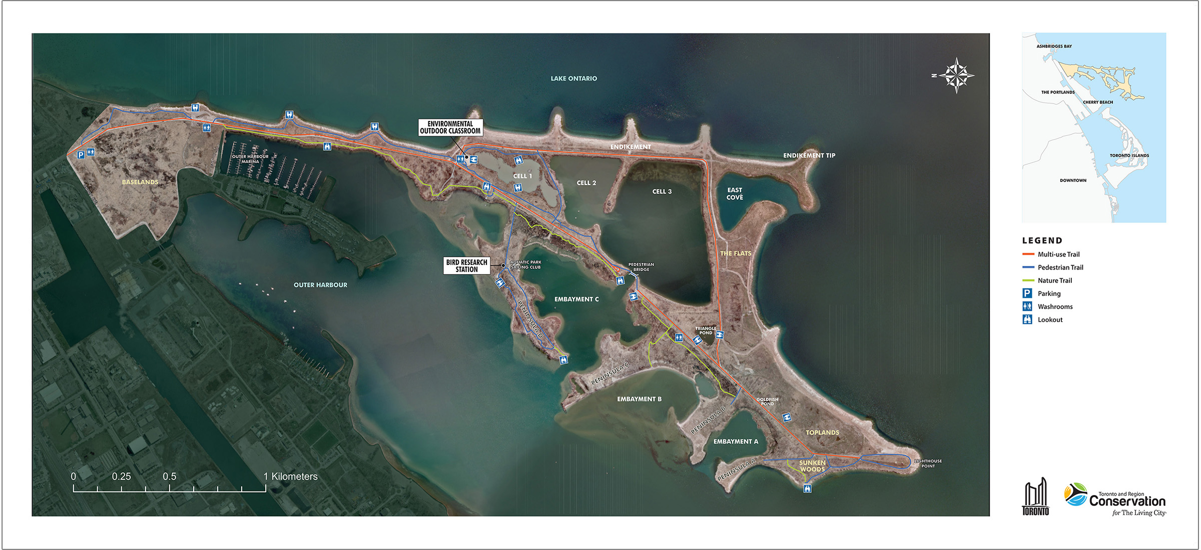 map of Tommy Thompson Park