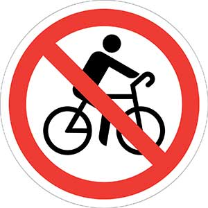 No bicycling allowed