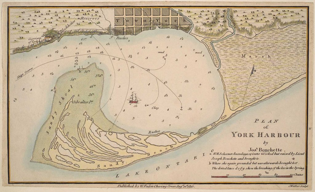 Plan of York Harbour - Map