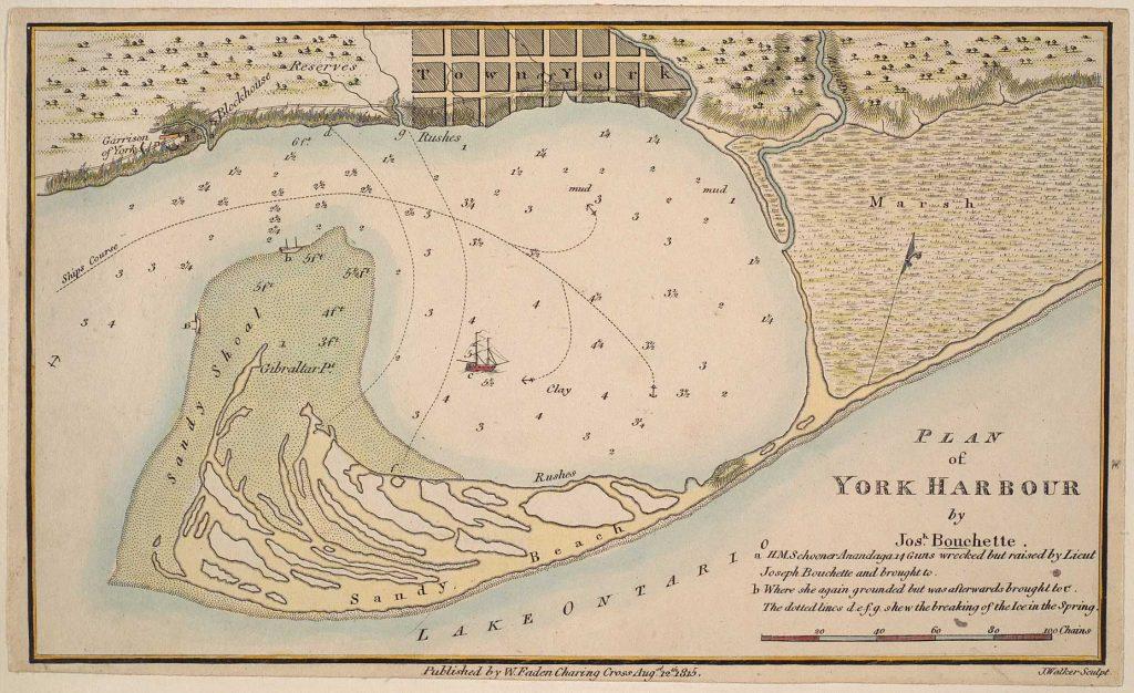 Plan of York Harbour - Map