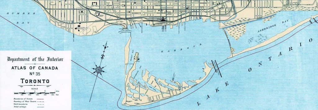 Map of Toronto Harbour