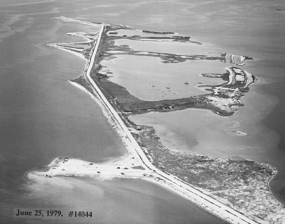 Aerial view of Leslie Street Spit, June 25, 1979.