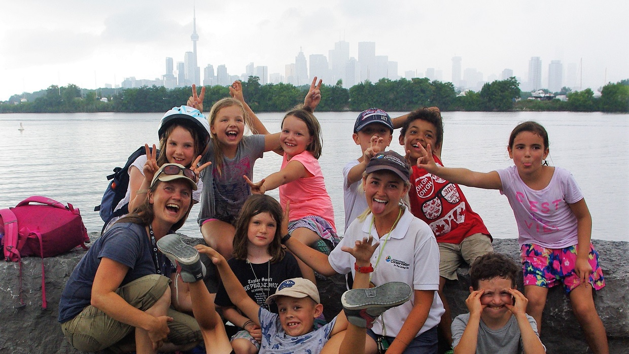 youngsters enjoy Nature Camp at the Spit at Tommy Thompson Park