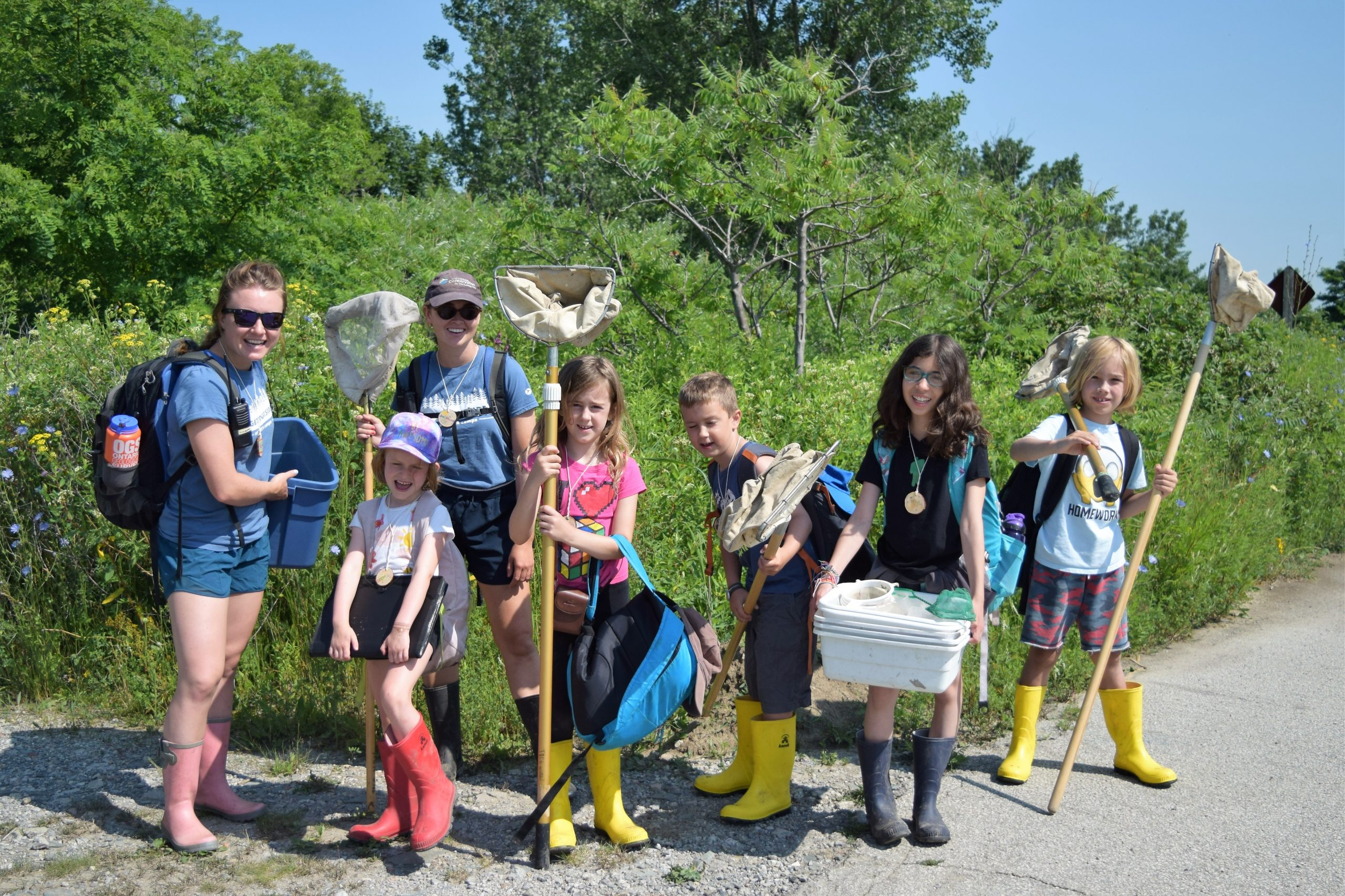 Nature Campers about to explore the wetlands