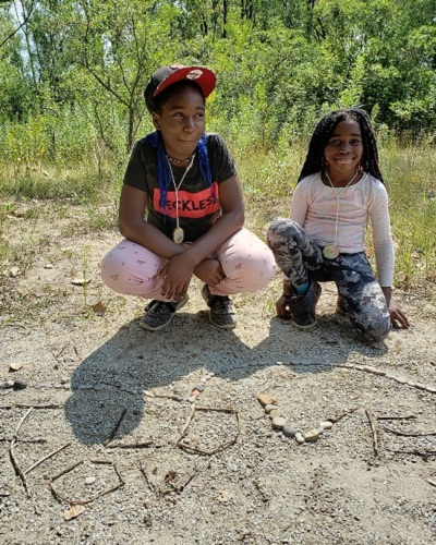 summer campers make nature art at Tommy Thompson Park